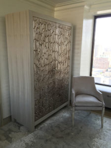 Closed Option of Silver Leaf Armoire